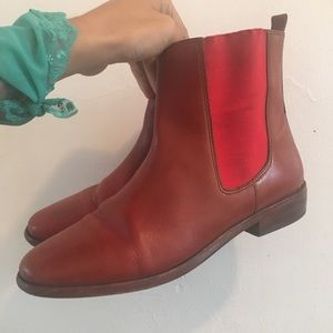 Coach Legacy Lucia Flat Ankle Boot Tan Brown